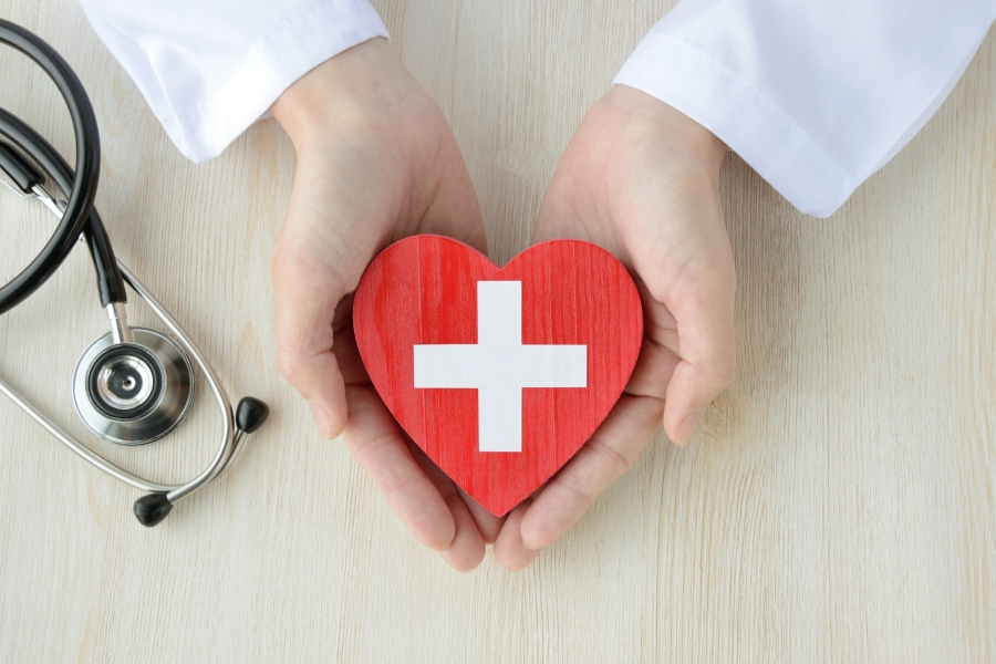 Medical concepts, safe support and help