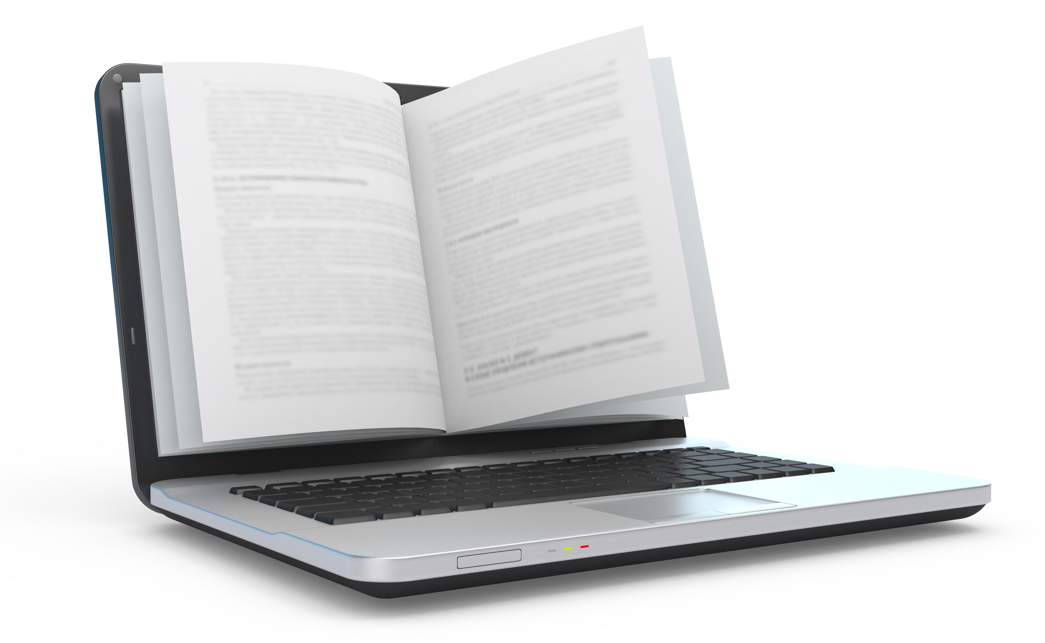 E-book.  E-reading. E-learning.